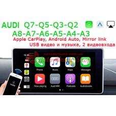 AUDI Q7,Q5,Q3,Q2,A8,A7,A6,A5,A4,A3 Apple CarPlay / Android Auto