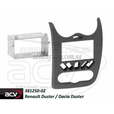 Купить переходную рамку ACV 381250-02 RENAULT DUSTER , DACIA DUSTER (SD) 2010+ (anthracite, grey, brown)