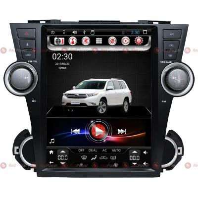 Купить штатную магнитолу RedPower 31035 Toyota Highlander II U40 2007-2013 Tesla Style